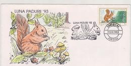 SQUIRREL Fauna  FDC COVER ROMANIA  SPECIAL POSTMARK -Philatelic EXHIBITION -SQUIRREL- Nature Protection - Otros