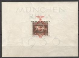Deutsches Reich Block 10 ** Postfrisch Etwas Bügig