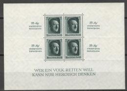 Deutsches Reich Block 9 * Kleine Falzreste