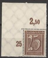 Deutsches Reich 180P Eckrand ** Postfrisch - Allemagne