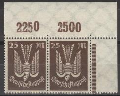 Deutsches Reich 2x265P Eckrandpaar ** Postfrisch - Allemagne