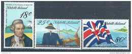 1978 NORFOLK 201-03 ** Navigateur James Cook, Bateau - Timbres