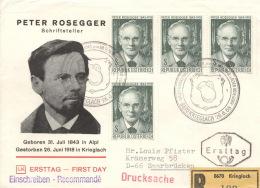 Österreich 4x1267 Auf R-FDC - FDC