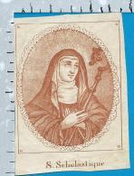 Holycard   St. Scholastique - Devotieprenten