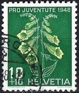 Switzerland 1948 - Flower : Yellow Foxglove ( Mi 515 - YT 468 )