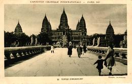 EXPOSTION COLONIALE INTERNATIONALE PARIS 1931 - TEMPLE D'ANGKOR VAT - Ausstellungen