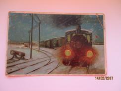 RAILWAY STATION , TRAIN , LOCOMOTIVE , OLD POSTCARD,  USED 1912 IN RUSSIA Staraya Russa , 0