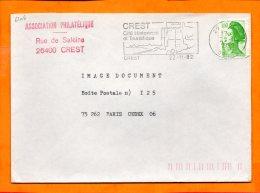 DROME, La Crest, Flamme SCOTEM N° 6206, Cité Historique Et Touristique - Poststempel (Briefe)