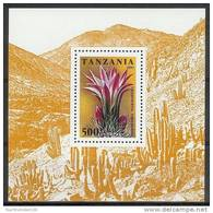 Mua682 FLORA BLOEMEN CACTUS FLOWERS SUKKULENTEN BLUMEN FLEURS TANZANIA 1995 PF/MNH VANAF1EURO #
