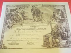 Récompense Honorifique De La Mutualité/Ministére Du Travail Et De La Prévoyance/Gabriel VINET/PARIS/1933        DIP134 - Diplômes & Bulletins Scolaires