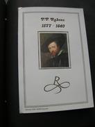 "BELG.1977 1861= BL52 FDC (Brux/Brus) Gold/zijde Card NL N°159/700 Ex  "" Pieter-Paul Rubens (1577-1640) - 1971-80"