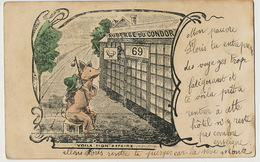Prostitution  Humour Auberge Du Condor 69 Cochon Humanisé Texte Comique Voir Ci Dessous Human Pig - Nus Adultes (< 1960)