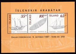 1997, Island,  876/78 Block 20, Tag Der Briefmarke - Isländische Ruderschiffe.  MNH ** - Blocks & Sheetlets