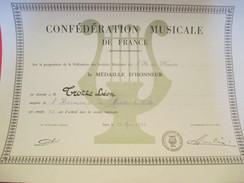 Conf. Musicale De France/Médaille D'Honneur//Léon TROTTE/Harmonie De MANTES La VILLE/1976      DIP137 - Diploma & School Reports