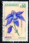 Y1996 - ANDORRA 1973 , Unificato N. 230 Usato . Aquilegia
