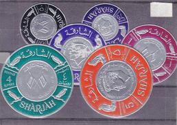 Kennedy - Sharjah - Michel 198 / 203 ** - Oiseaux - Rapaces - Drapeaux -