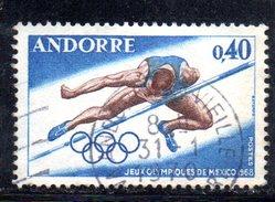 Y2002 - ANDORRA 1968 , Unificato N. 190 Usato . MESSICO