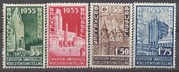 """BELGIQUE - Cob - 386/89** - Cote 70 € - Propagande En Faveur De L""""exposition Universelle De Bruxelles En 1935 - 1935 – Brussels (Belgium)"""