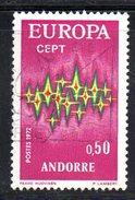 Y2015 - ANDORRA 1972 ,   Unificato N. 217 Usato . EUROPA CEPT