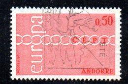 Y2017 - ANDORRA 1971 ,   Unificato N. 212 Usato . EUROPA CEPT