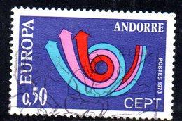 Y2018 - ANDORRA 1973 ,   Unificato N. 226 Usato . EUROPA CEPT