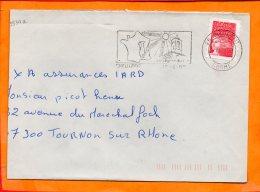 DROME, Dieulefit, Flemme SCOTEM N° 3534a, Eglise Du XIVe, SECAP DC - Poststempel (Briefe)