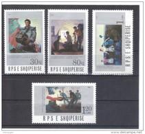 ALB386  ALBANIEN 1987  MICHL  2338/41  ** Postfrisch SIEHE ABBILDUNG - Albanien