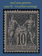 N° 103 GROUPE ALLÉGORIQUE SAGE TYPE III 1898 - NEUF SANS GOMME - EXCELLENT CENTRAGE -