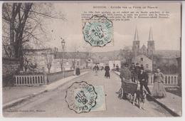 MOUZON : VOITURE - ATTELAGE DE CHIEN - PORTE DE FRANCE - 1906 - 2 SCANS - - France