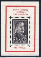 HUNGARY 1953 Death Of Stalin  Block MNH / **.  Michel Block 23 - Blocks & Sheetlets
