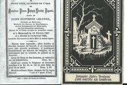 Mainvault-Souvenir Mortuaire De P-J-N Depotte, Ancien Bourgmestre 18-02-1807/10-01-1886 - Obituary Notices