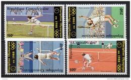 Centrafricaine - Poste Aérienne - 1986 - Yvert N° PA 353 à 356 ** - Tennis Discipline Olympique