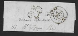 Seine Et Oise -   Cachet Type 13  LIVRY + Taxe 25  Sur Lettre De 1851 - Postmark Collection (Covers)