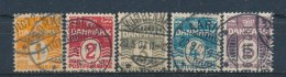 Denemarken/Denmark/Danemark/Dänemark 1905 Mi: 42A-46A Yt:  (Gebr/used/obl/o)(896)