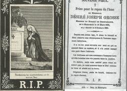 Mainvault Désiré-Joseph Grosse Bureau De Bienfaisance 10-03-1809/08-10-1886 - Obituary Notices