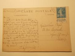 Marcophilie - Lettre Enveloppe Obliteration Timbre N°192 Bande Publicitaire Sur CPA Chamonix 1926 (905) - Marcophilie (Lettres)