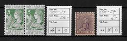 PRO JUVENTUTE → 1913 HELVETIA & 1917 WALLISERIN  ►SBK-J1** & J7*◄ - Pro Juventute