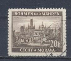 Böhmen Und Mähren/Bohemian & Moravia/Boheme & Moravie 1939 Mi: 61 Yt:  (Gebr/used/obl/o)(808) - Bohemia & Moravia