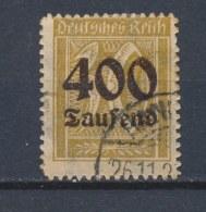 Duitse Rijk/German Empire/Empire Allemand/Deutsche Reich 1923 Mi: 299 Yt: 287 (Gebr/used/obl/o)(549) - Duitsland