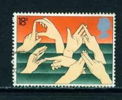 GREAT BRITAIN  -  1981  Year Of The Disabled  18p  Used As Scan - Oblitérés