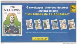 FRANCE - 1995 - 6 Enveloppes Neuves Et Cartons Assortis LES FABLES DE LA FONTAINE - Dans Emballage Origine - 2 €