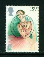 GREAT BRITAIN  -  1982  Europa  Theatre  151/2p  Used As Scan - Gebruikt