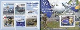 S. Tomè 2009, 60th NATO, Planes, Ships, 4val In BF +BF