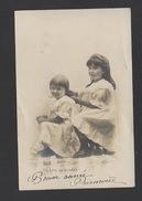 DF / ENFANTS / DEUX FILLETTES : UN BRIN DE TOILETTE / CIRCULÉE EN 1903 - Bambini