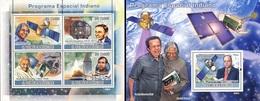 S. Tomè 2009, Space Indian Program, Gandhi, 4val In BF +BF