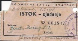 Sport Ticket UL000420 - Football (Soccer / Calcio) Sparta Beli Manastir Vs Racing Club De Strasbourg Alsace 1955-05-01 - Match Tickets