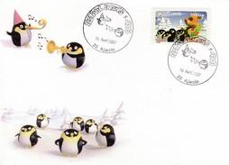 ANTARCTIQUE - FRANCE Ajaccio 2007 - Festival Enfants Et Ados - Oblitération Manchot - Penguin