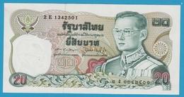 THAILANDE 20 BAHT ND (1981) ALPHA 2E 1342501 Sign.60  King Rama IX - Thaïlande
