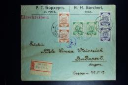 Letland / Latvia Registered Letter Riga To Budapest Hungery 1919 - Lettland