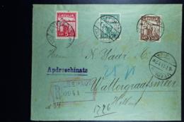 Letland / Latvia Registered Letter Leepaja Liepaia Libau To Amsterdam Watergraafsmeer 1919 - Lettland